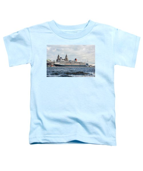 Queen Elizabeth Cruise Ship At Liverpool Toddler T-Shirt
