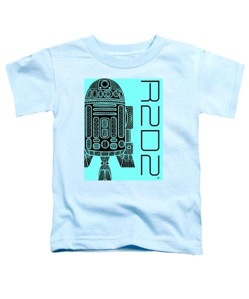 R2d2 - Star Wars Art - Blue Toddler T-Shirt