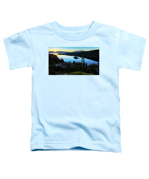 Radiant Sunrise On Emerald Bay Toddler T-Shirt