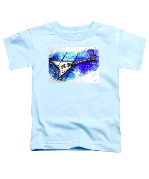 Randy's Guitar On Blue II Toddler T-Shirt by Gary Bodnar