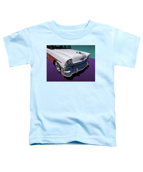 Red And White 1950s Chevrolet Wagon Toddler T-Shirt