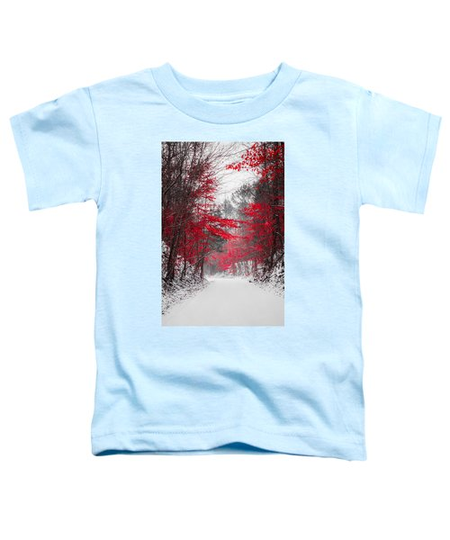Red Blossoms  Toddler T-Shirt
