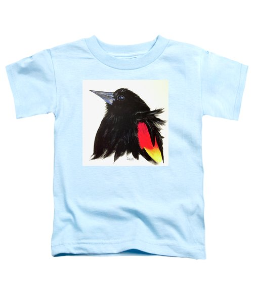 Red Winged Blackbird Toddler T-Shirt