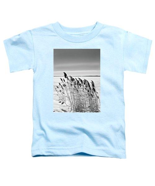 Reeds On A Frozen Lake Toddler T-Shirt