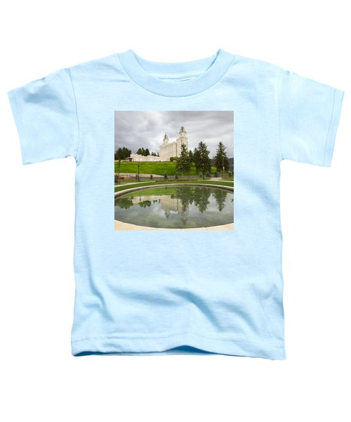 Reflections Of The Manti Temple At Pioneer Heritage Gardens Toddler T-Shirt