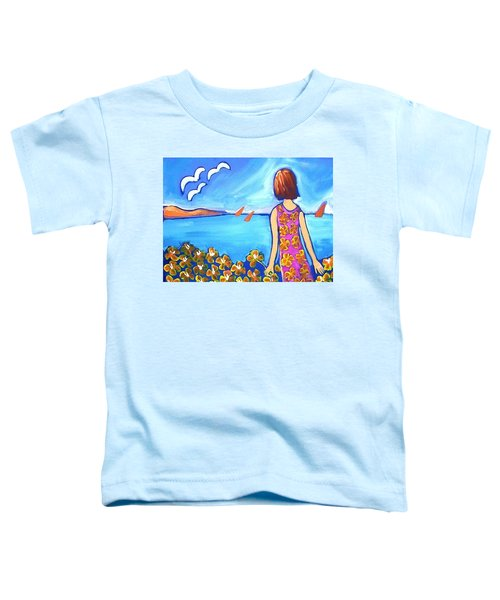 Toddler T-Shirt featuring the painting Remembering Joy by Winsome Gunning