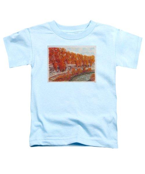 River Tiber In Fall Toddler T-Shirt