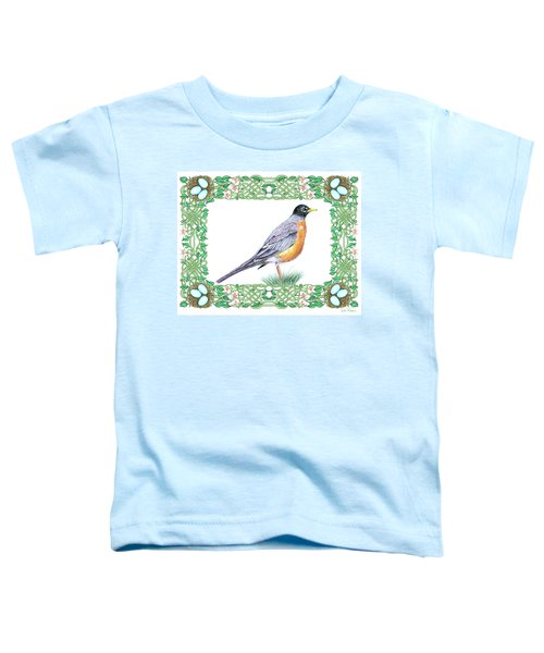 Robin In Spring Toddler T-Shirt