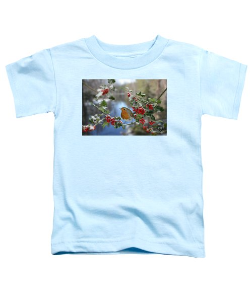 Robin On Holly Branch Toddler T-Shirt