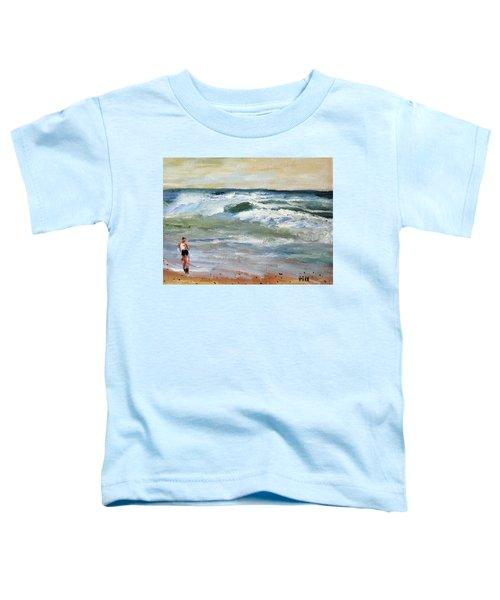 Running The Beach Toddler T-Shirt