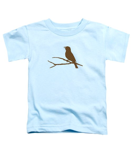 Rustic Brown Bird Silhouette Toddler T-Shirt by Christina Rollo