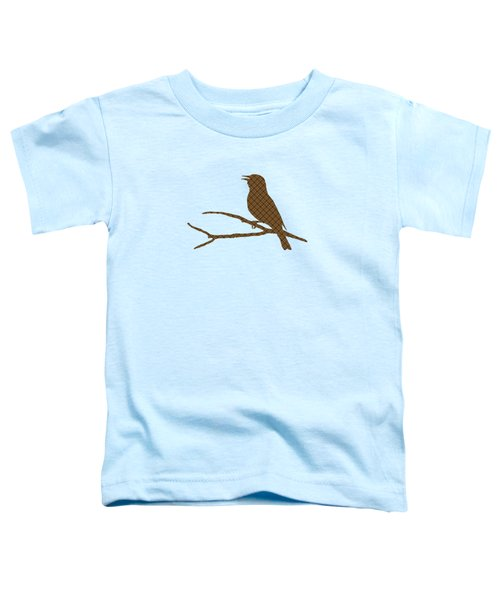 Rustic Brown Bird Silhouette Toddler T-Shirt
