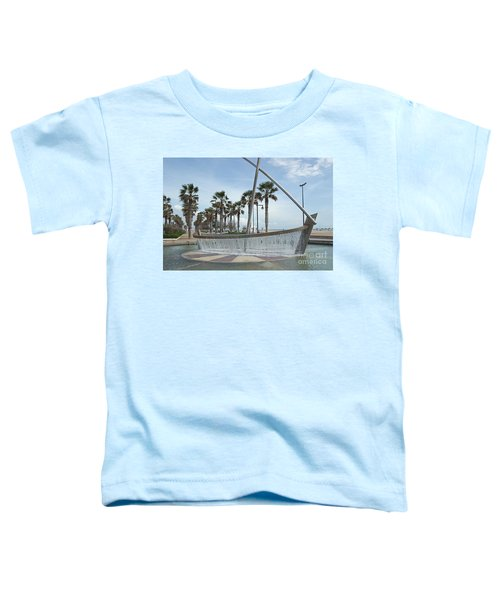 Sail Boat Fountain In Valencia Toddler T-Shirt
