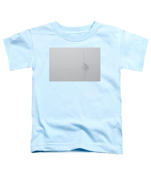 Sailboat In Fog Toddler T-Shirt