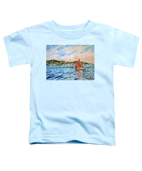 Sailboat On The Bay Toddler T-Shirt