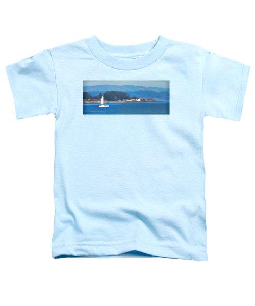 Sailing On The Monterey Bay Toddler T-Shirt