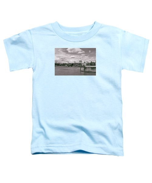 Saint Pauls Cathedral Along The Thames Toddler T-Shirt by Nop Briex