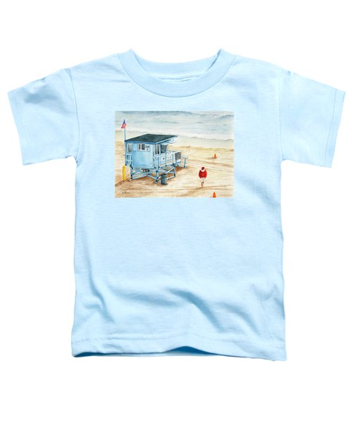 Santa Is On The Beach Toddler T-Shirt