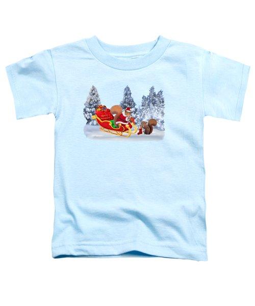 Santa's Little Helper Toddler T-Shirt by Glenn Holbrook
