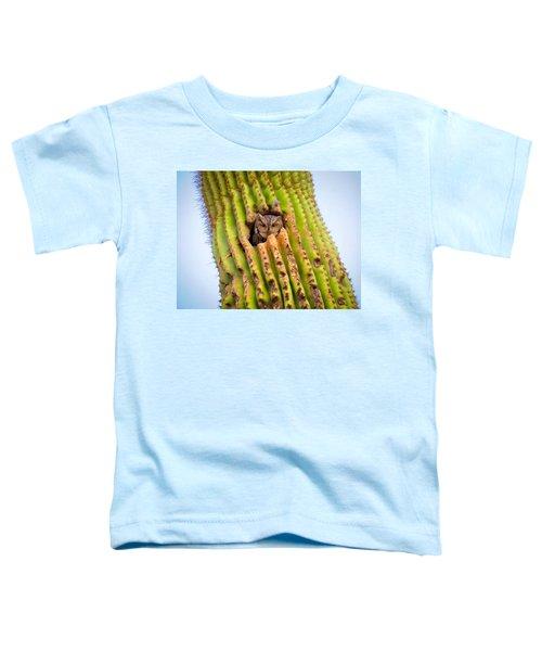 Screech Owl In Saguaro Toddler T-Shirt