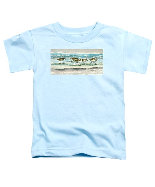 Scurrying Along The Shoreline 2  1-6-16 Toddler T-Shirt