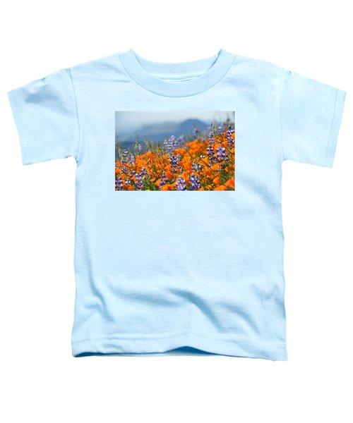 Sea Of California Wildflowers Toddler T-Shirt