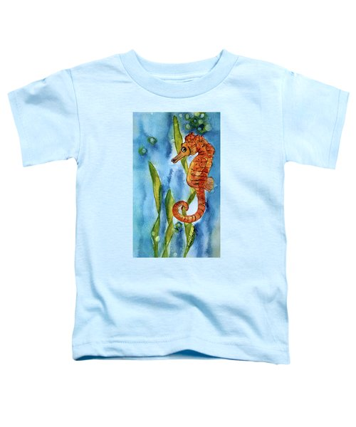 Seahorse With Sea Grass Toddler T-Shirt
