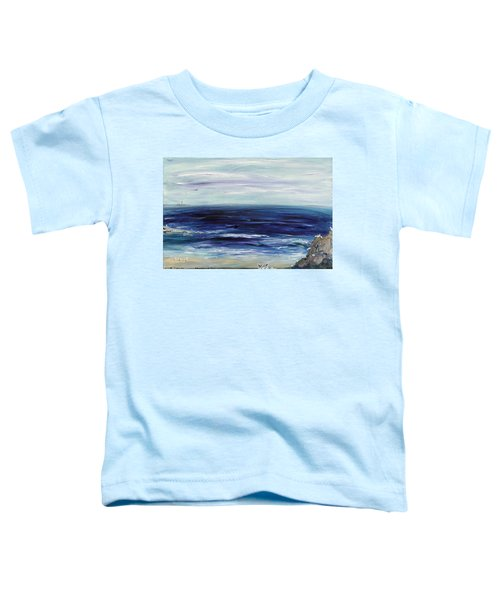 Seascape With White Cats Toddler T-Shirt