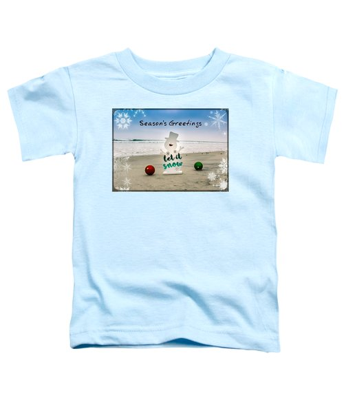 Toddler T-Shirt featuring the photograph Season's Greetings by Alison Frank