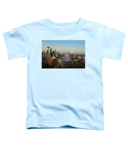 Seattle Cityscape Toddler T-Shirt