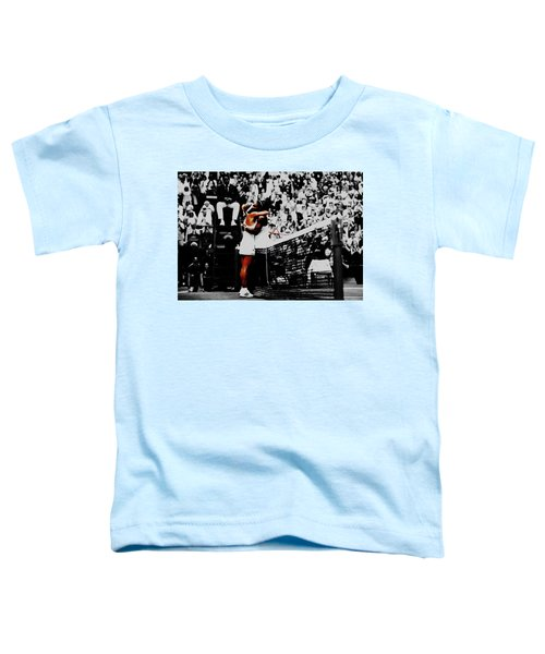 Serena Williams And Angelique Kerber Toddler T-Shirt by Brian Reaves