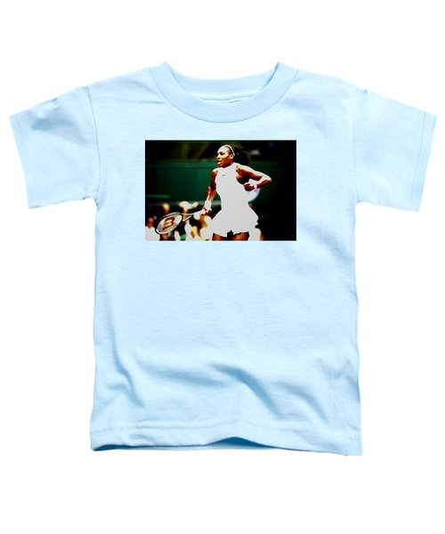 Serena Williams Making History Toddler T-Shirt by Brian Reaves