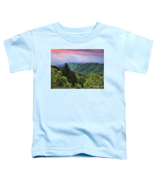 Setting Sun Over The Smokey Mountains Toddler T-Shirt