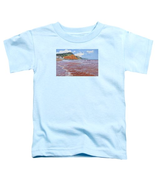 Toddler T-Shirt featuring the painting Sidmouth by Lawrence Dyer