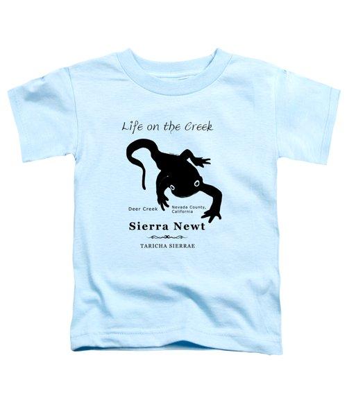 Sierra Newt - Black Toddler T-Shirt by Lisa Redfern