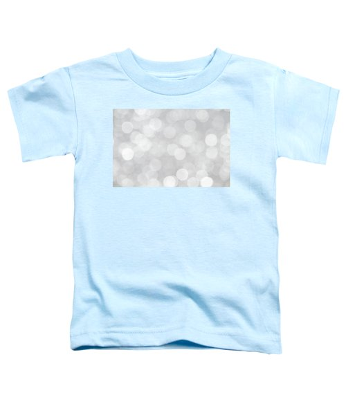 Silver Grey Bokeh Abstract Toddler T-Shirt