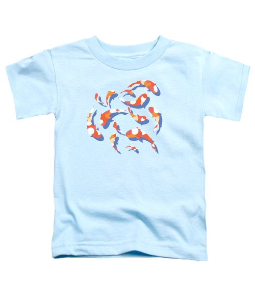 Koi Toddler T-Shirt by Lucy Niedbala