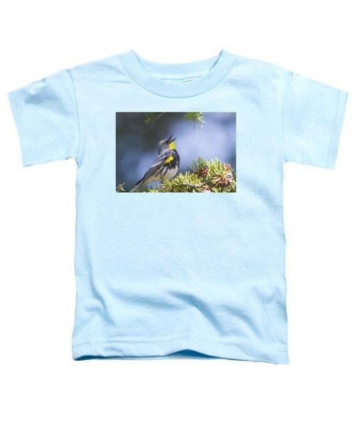 Singing Audubon's Warbler Toddler T-Shirt