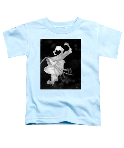 Single Lily In Black And White. Toddler T-Shirt
