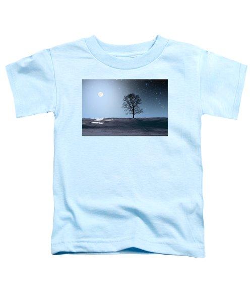 Single Tree In Moonlight Toddler T-Shirt
