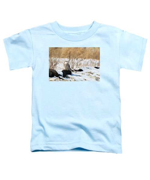 Sitting Snowy Toddler T-Shirt