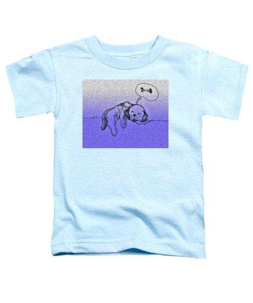Sleepy Puppy Dreams Toddler T-Shirt