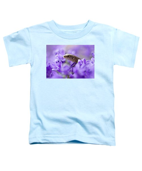 Toddler T-Shirt featuring the photograph Small Lizard by Jaroslaw Blaminsky