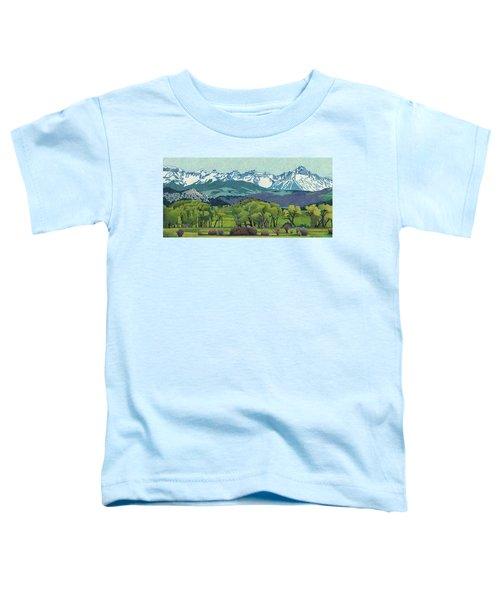 Sneffels Range Spring Toddler T-Shirt