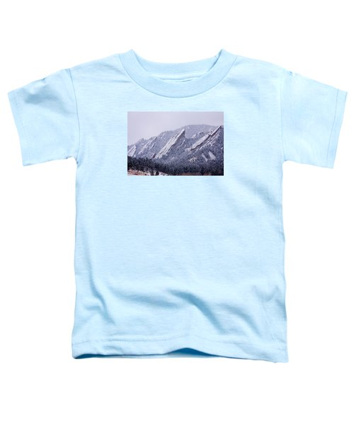 Snow Dusted Flatirons Boulder Colorado Toddler T-Shirt by James BO  Insogna