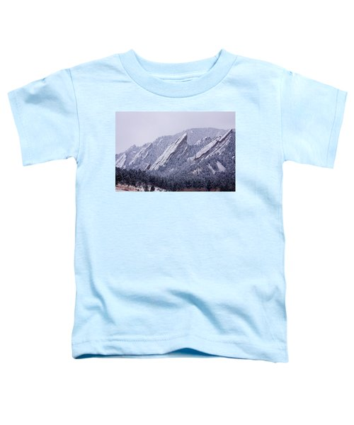 Snow Dusted Flatirons Boulder Colorado Toddler T-Shirt