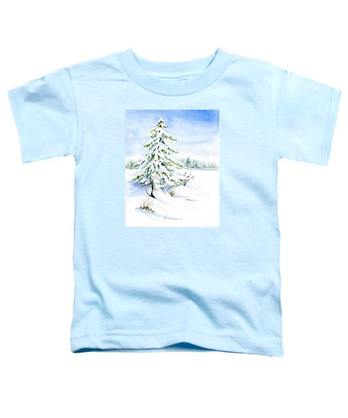 Snow On Evergreens Toddler T-Shirt