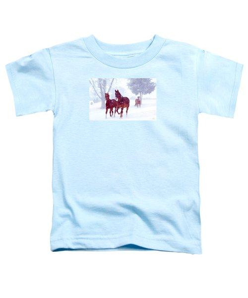 Snow Run Toddler T-Shirt