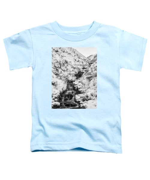 Snowy Waterfall In The Peak District In Derbyshire Toddler T-Shirt