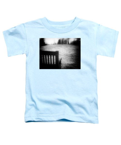 Solitary Bench In Winter Toddler T-Shirt